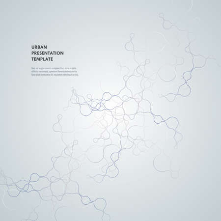 Abstract connecting dots and lines. Technology science background. Vector illustration.