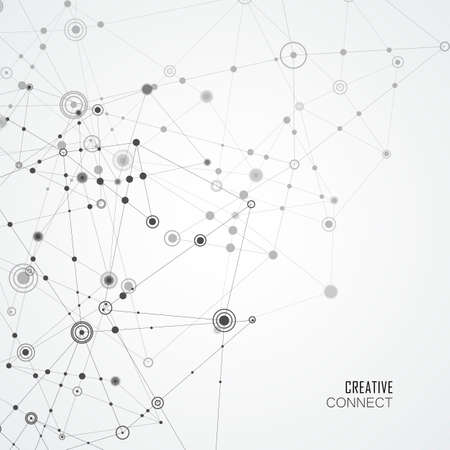 Network connection structure on white background. Vector network concept