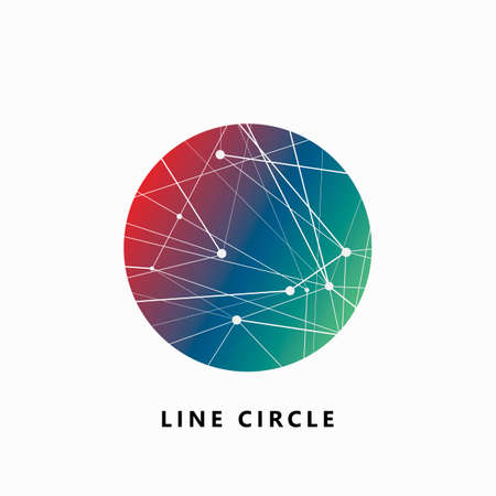 Abstract geometric round composition. Vector design connection illustration