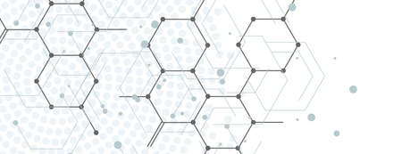 Abstract geometric background with connect hexagons