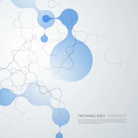 Technology connected lines and dots concept