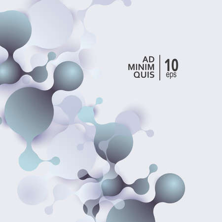 Abstract molecules background with cells. Vector medical background
