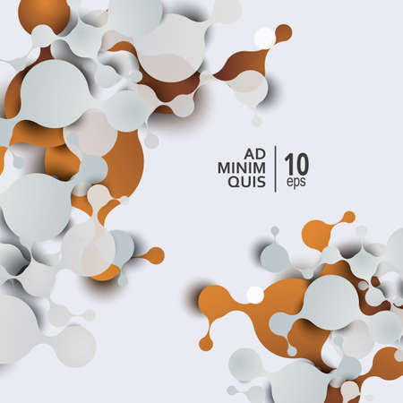 Abstract molecules background with cells structure and DNA molecule