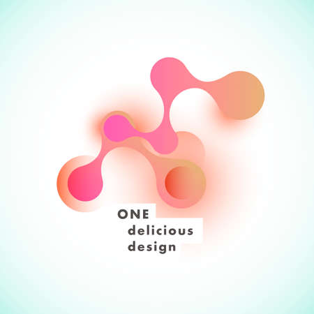 Creative molecule or atom connect design with color circles and lines.