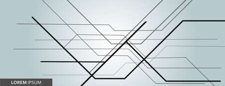 Vector abstract background with black overlapping lines for graphic design.