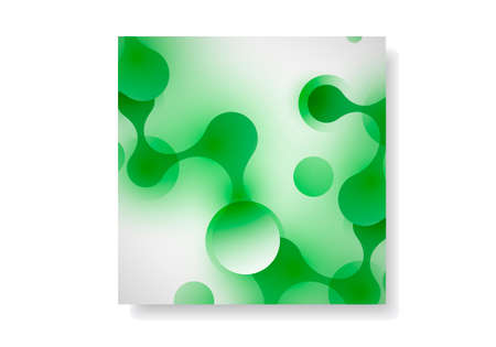 Abstract connection structure in technology style and vector image for science, chemistry, medicine, biotechnology.