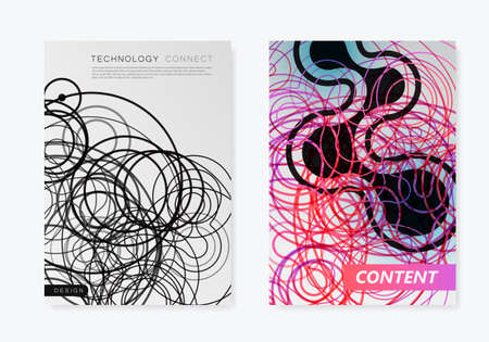 Abstract connection structure in technology style. Vector broshure template for science, chemistry, medicine, biotechnology