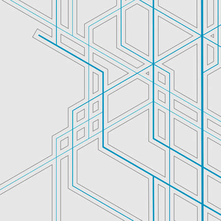 Abstract geometric overlapping lines background Illustration
