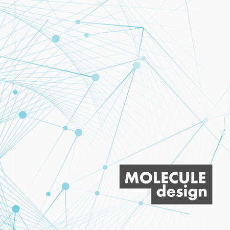 Vector abstract molecular connection and technology design for medicine and biology and chemistry and education.