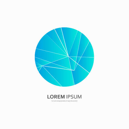 Abstract geometric round composition. Vector design connection illustration.