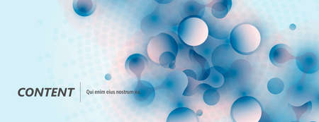 Molecular structures background and technology vector illustration. Stock Illustratie