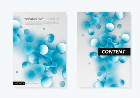 Abstract futuristic molecule background with connect line and corcle. Vector illustration concept. Ilustrace