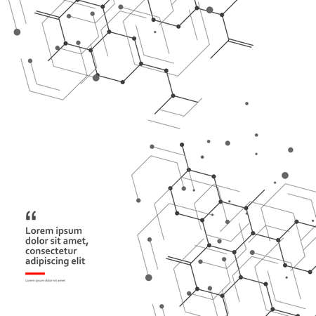 Science design with molecular structure. Abstract vector medical background. Иллюстрация