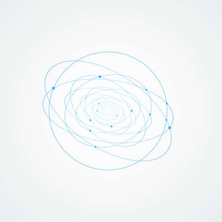 white background with abstract circles