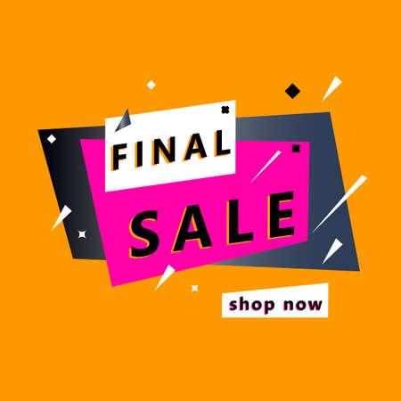 Discount offer price sign. Stock market concept. Mega sale vector illustration. Special offer banner design Illusztráció