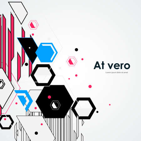 Hexagonal structure lattice. Geometric abstract background. Chemistry, science and technology concept. Vector illustration