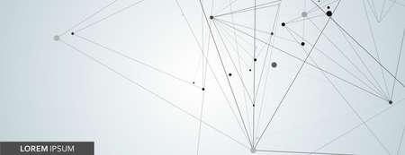 Vector design with triangle connect on light background Illusztráció