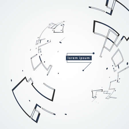 Abstract circular shapes form. Logo design. Vector illustration background Illusztráció