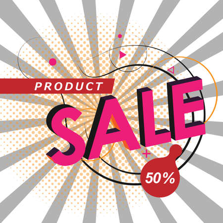 Poster with sale discount geometric pattern for decorative design. Creative background concept. Geometric line pattern. Vector abstract graphic design Illusztráció