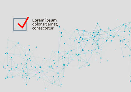 Abstract connection dots lines. Communication science technology background. Vector illustration Illusztráció
