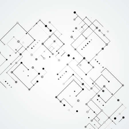 Abstract futuristic connection. Dots background. Line vector drawing Illusztráció