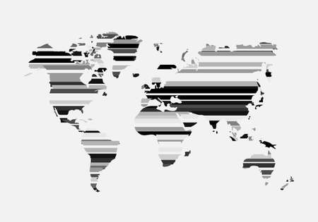 Icon for web design. Environment concept. Vector abstract graphic design. Vector world map