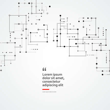 Social media background. Dotted line. Connected square lines Illusztráció