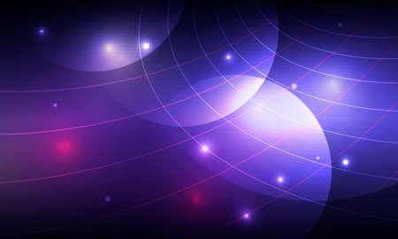 Vector bright circle blue space. Abstract glowing spiral Illusztráció