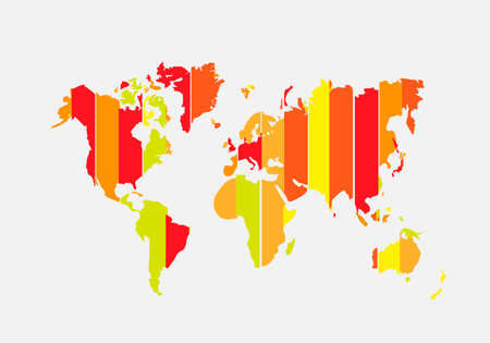 World map. Creative vector illustration. Light background. Business concept