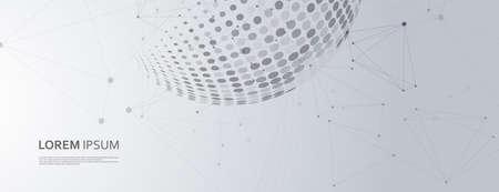 Grunge abstract halftone pattern. Technology modern design. Label design element vector illustration. Dark abstract background