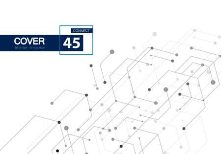 Hexagon technology connect for web design. Abstract modern backdrop. Creative vector concept. High tech digital technology concept. Futuristic backdrop