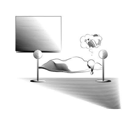 sweet dreams: sweet dreams - line art