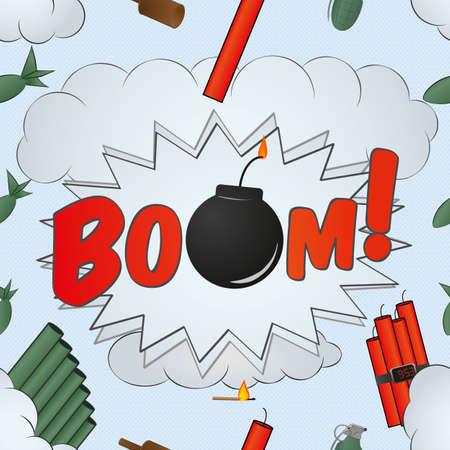 explosion big bang pattern - cartoon