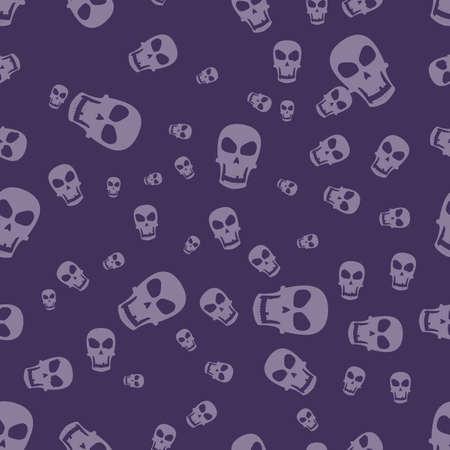 halloween pattern: skull - halloween pattern Illustration