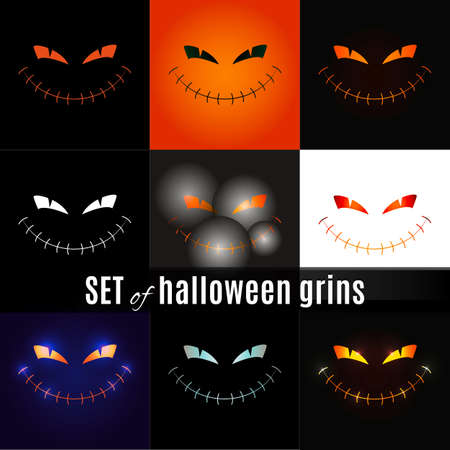 resplendence: SETofhalloweengrins Illustration