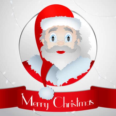 one year old: Card Santa Christmas 2016 - Illustration banner