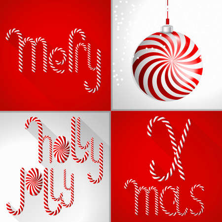 lolli: A chic Christmas card in a contemporary tile design with Lolli font and ball.