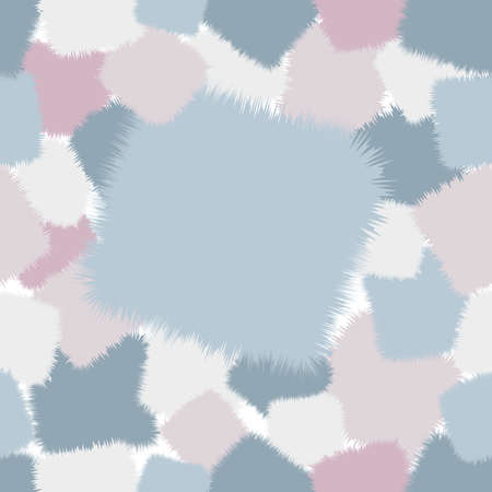 a trendy shaggy patchwork. Made in pastel blue and pink tones. Seamless pattern. Illustration
