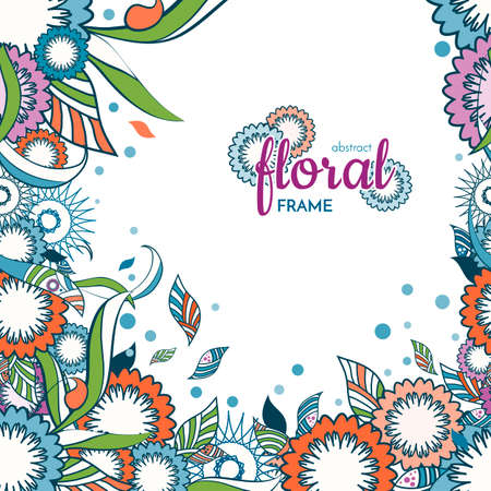 decorative item: An elegant abstract spring and summer floral and ornamental spring item frame background with decorative flowers. very colorful. Is perfect for flyers, cards, posters, banner, print products.