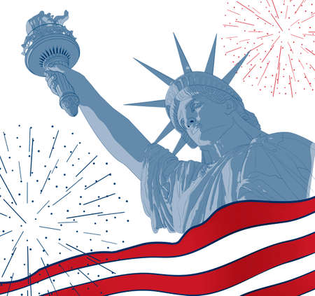 Festive Card Design For Fourth Of July Independence Day Usa With