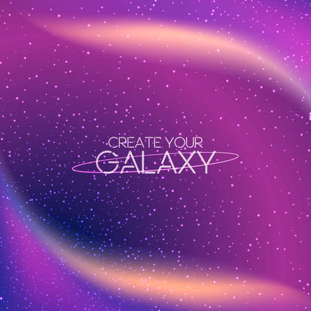 Abstract cosmic galaxy background with milky way, stardust, nebula and bright shining stars. Vector illustration of deep night sky. Cosmic vector illustration for your design, artworks. Illustration