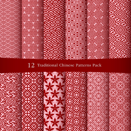 motif floral: Chinese patterns design
