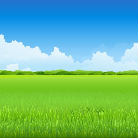 Green environment background Ilustracja