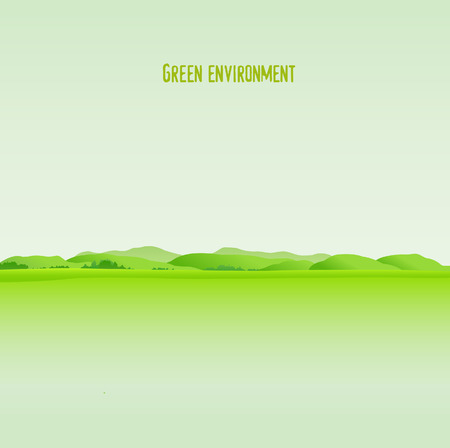 lawns: Green environment background Illustration