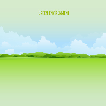 Green environment background Illustration