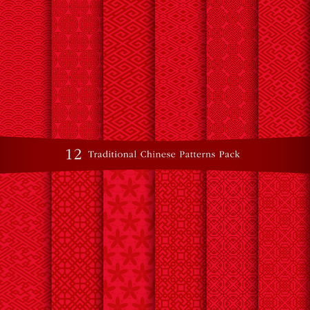 chinese flower: Chinese patterns design