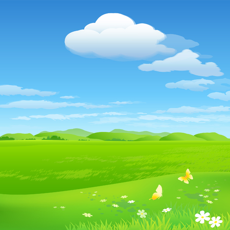 Green environment background 向量圖像