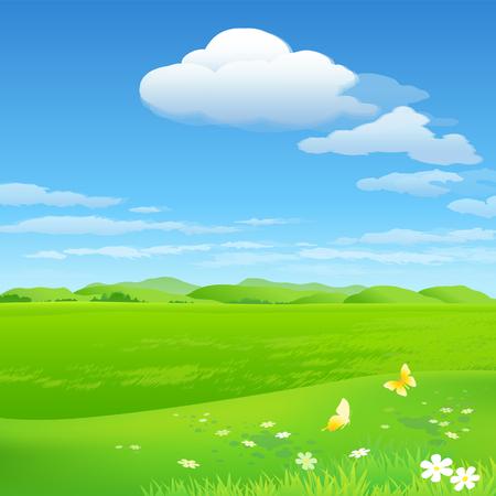 Green environment background Illustration