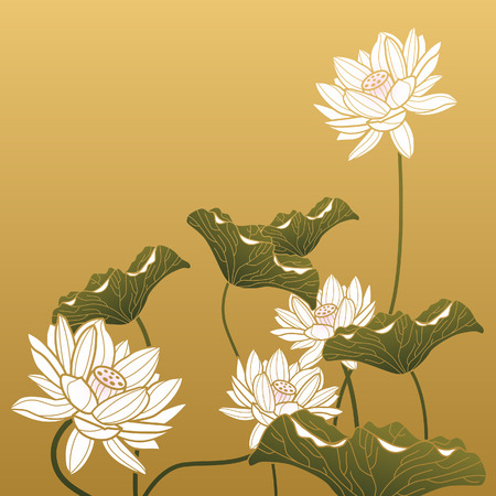 lotus background: Traditional Chinese art Illustration