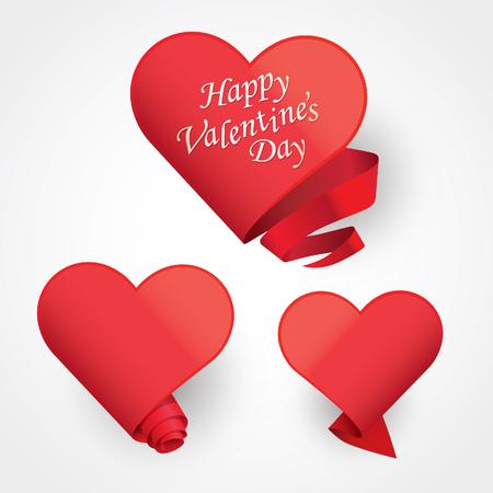love shape: Seasons greetings card